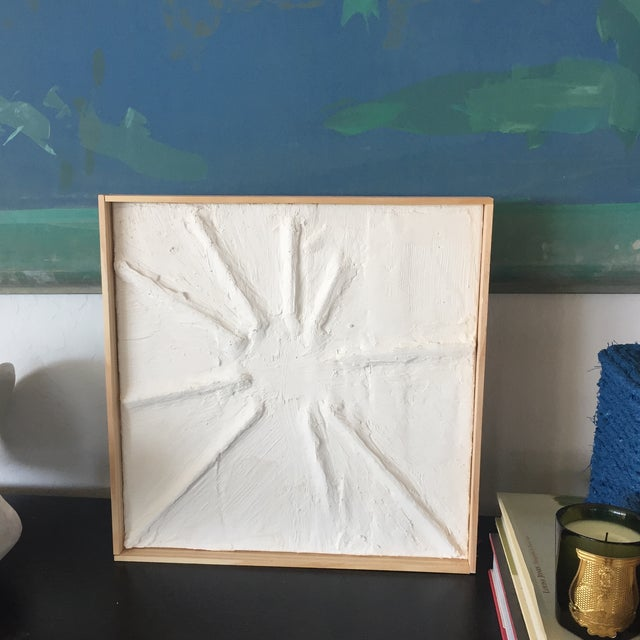 Abstract 'Sun Flare' Minimalist Plaster Painting For Sale - Image 3 of 7