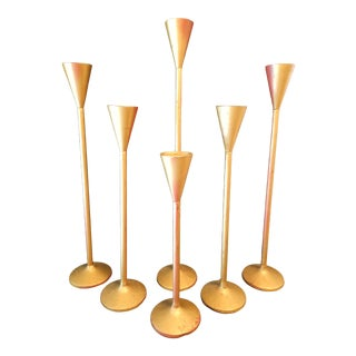 Collection of Modern Candleholders, Set of 6 For Sale