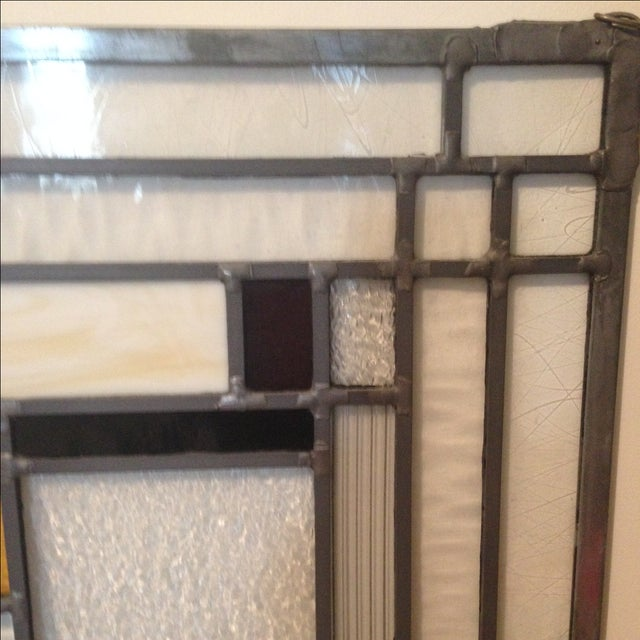 Craftsman Style Stained Glass Panel - Image 5 of 10
