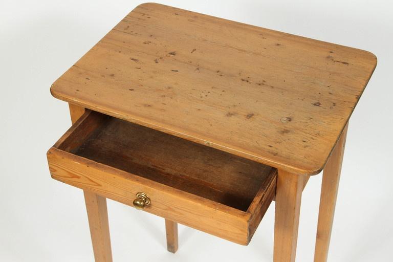 antique 19th century english pine side table | chairish