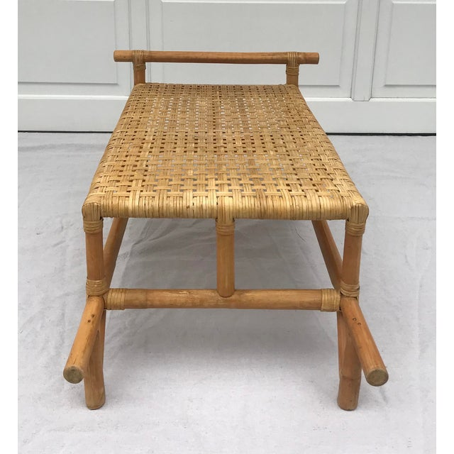 Mid 20th Century Bamboo Side Table For Sale - Image 4 of 8