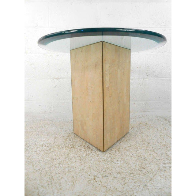 Vintage Marcius for Casa Bique Tessellated Stone End Table - Image 3 of 6