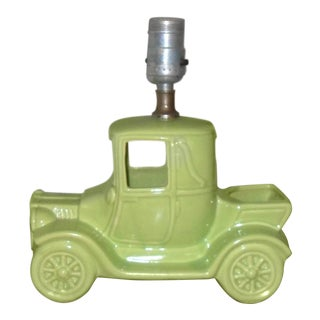 1950s Americana McCoy Pottery Truck Lamp For Sale