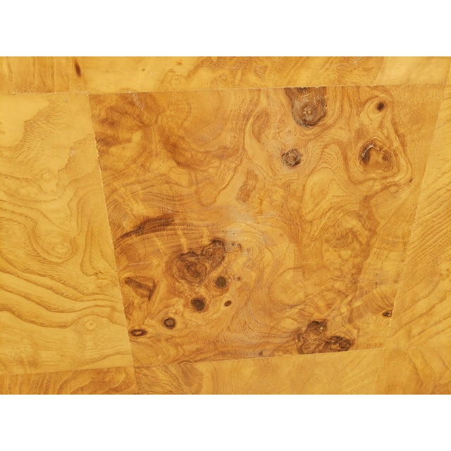 1970s Milo Baughman Burl and Chrome Credenza For Sale In Chicago - Image 6 of 12
