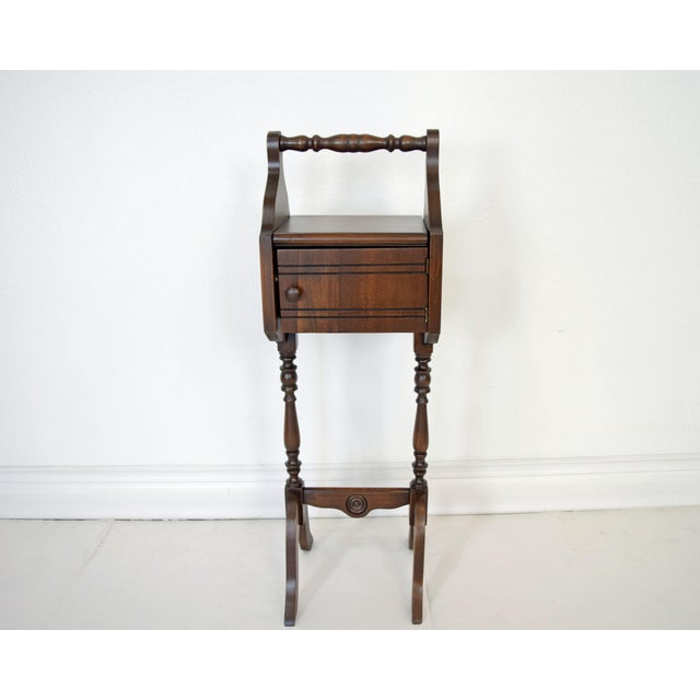 1900's Vintage Sewing Storage Side Table For Sale - Image 11 of 13