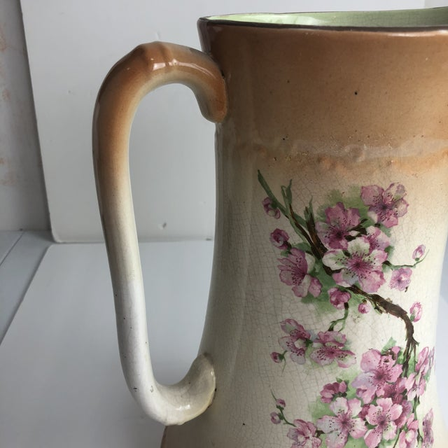 Hand Painted Floral Pitcher For Sale - Image 11 of 13