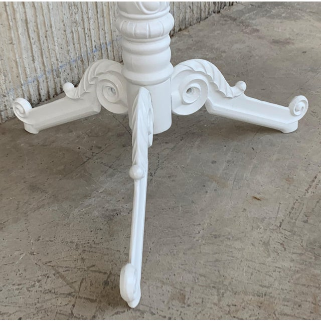 Metal 20th Century Round Cast Iron Base With Marble Top Garden Table or Bistro Table For Sale - Image 7 of 9