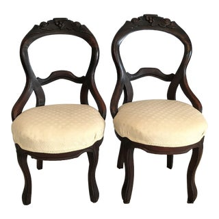 Louis XV Style Balloon Back Chairs Ca. 1850 - a Pair