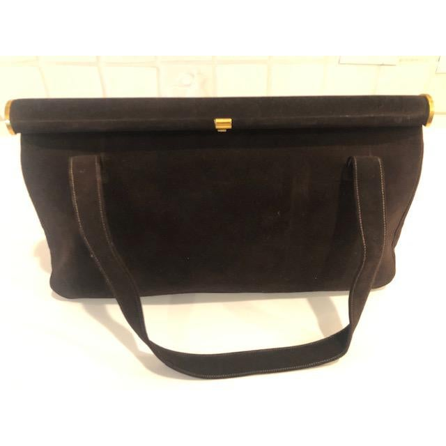 1940s Koret Chocolate Calfskin Suede Purse For Sale - Image 13 of 13