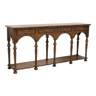 William & Mary Style Mahogany Sideboard / Console Table by Hickory White For Sale