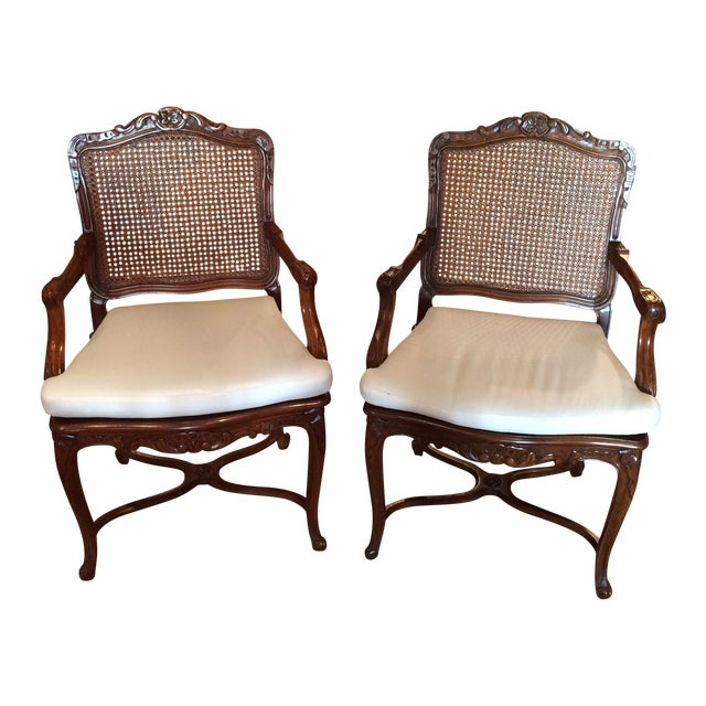 20th C. French Fauteuils - Pair - Image 1 of 4