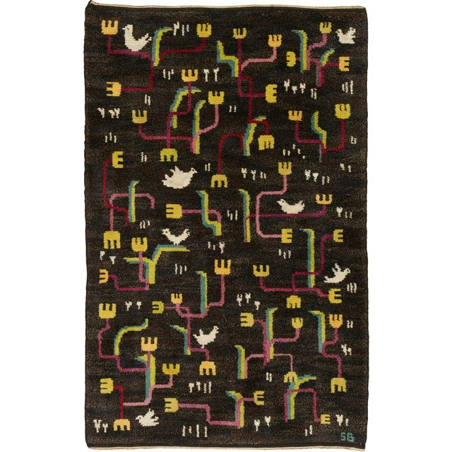 Vintage Swedish Pile Rug by Sigvard Bernadotte- 4′6″ × 6′10″ For Sale In New York - Image 6 of 6