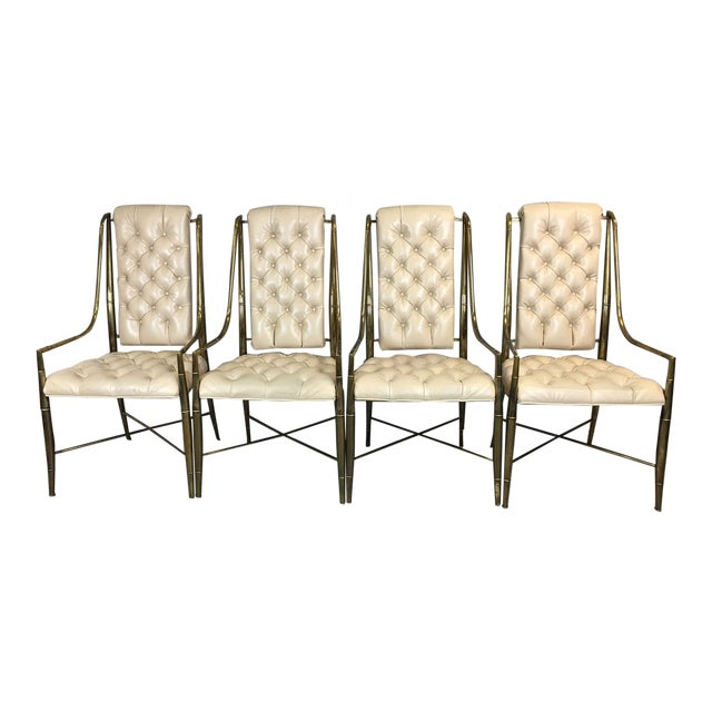 Mastercraft Brass Dining Chairs - Set of 4 - Image 1 of 9