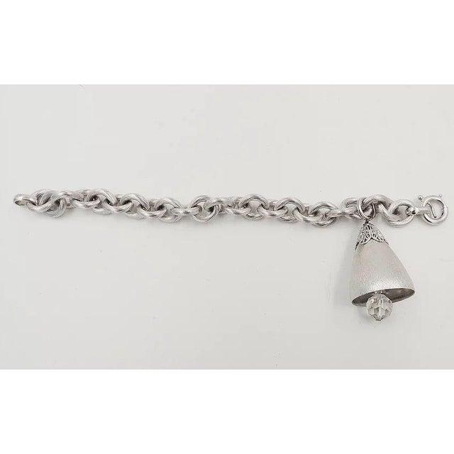 Mid-Century Modern 1970s Napier Bell Charm Bracelet For Sale - Image 3 of 6