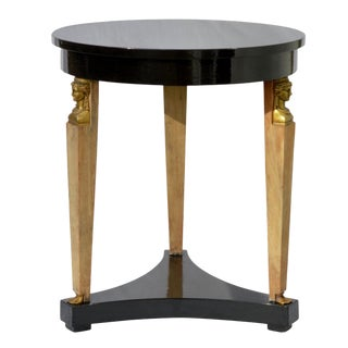 Ebonized Neoclassical Side Table by Baker For Sale