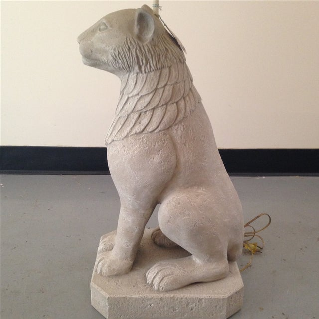 Regal Stone Cat Lamp - Image 5 of 5