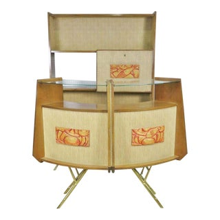 2 Piece Mid-Century Modern Bar For Sale