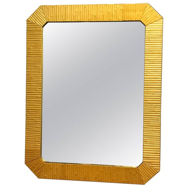 Bamboo Modern Mirror With Brass Finnish For Sale In Philadelphia - Image 6 of 6