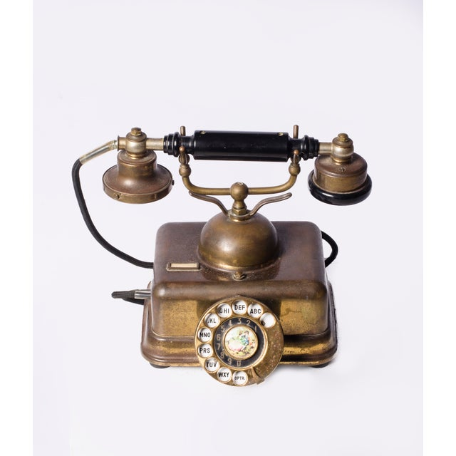 Art Deco European Style Mid-Century Phone For Sale - Image 3 of 5