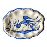 Image of Vintage Blue White French Faience Trinket Dish For Sale