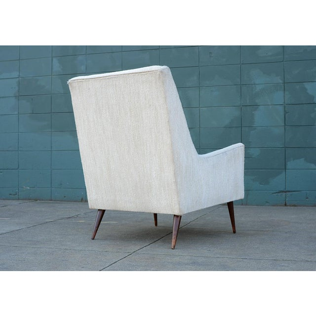 1950s Mid Century Modern Upholstered Lounge Chair For Sale - Image 5 of 11