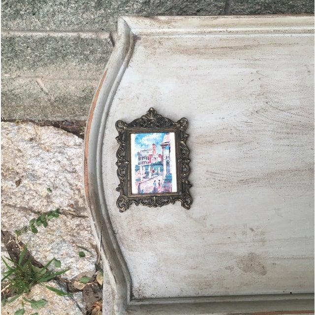 Italian Baroque Small Metal Frame & Illustration - Image 5 of 6
