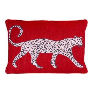 Luke Edward Hall for the Rug Company Leopard Ruby Cushion For Sale