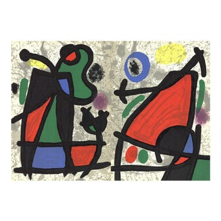 Joan Miro, Derriere Le Miroir, No. 186, Pg 2,7, Lithograph, 1970 For Sale