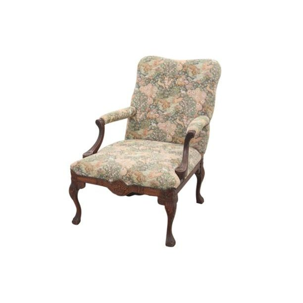 Louis XV Style Jungle Fauteuil and Ottoman - Image 3 of 9