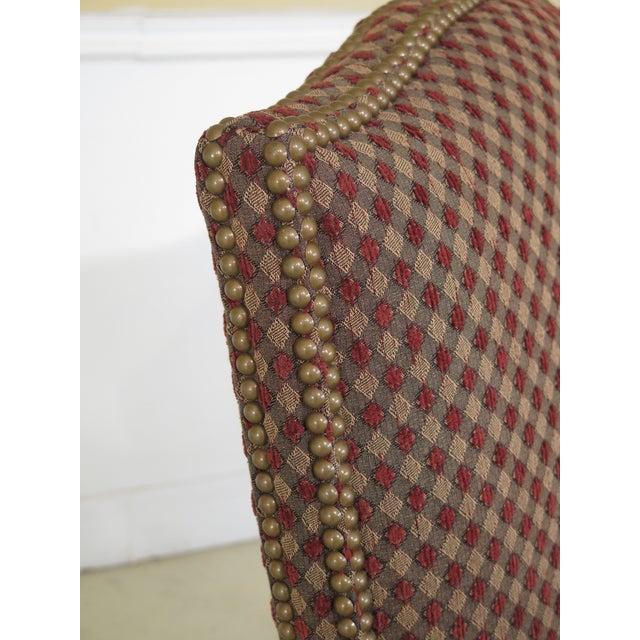 Textile Sherrill French Louis XV Style Upholstered Arm Chair For Sale - Image 7 of 13