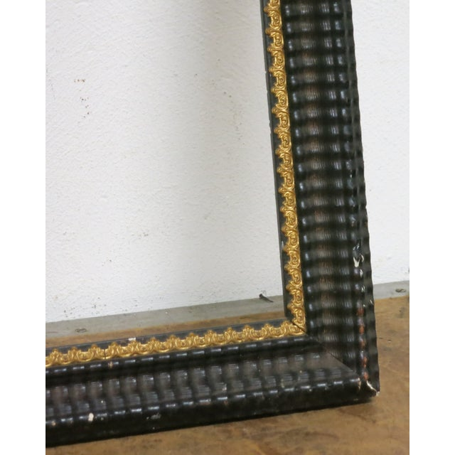 1850 Antique Ripple Picture Frame For Sale - Image 4 of 8