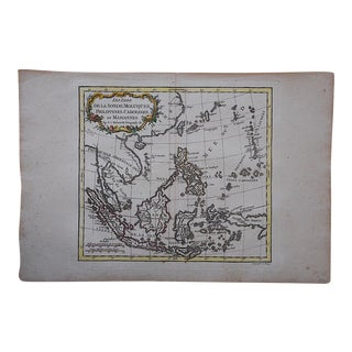 Antique Hand Coloerd Engraving-18th C. Map-Phillipines-South Sea Islands