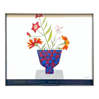 "Ed Baynard Vintage 1999 Fine Art Lithograph Print Framed Modernist Exhibition Poster "" Bright Day "" 1998 For Sale"