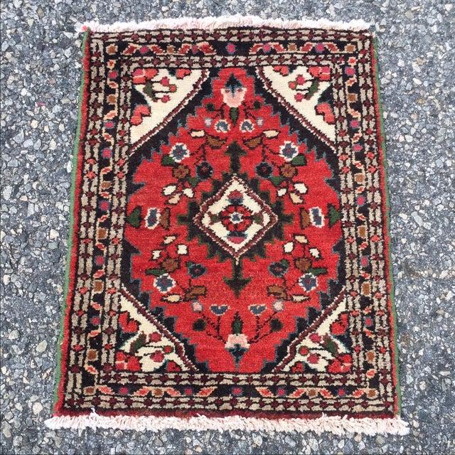 Vintage Hamadan Persian Rug - 1′8″ × 2′1″ - Image 2 of 9