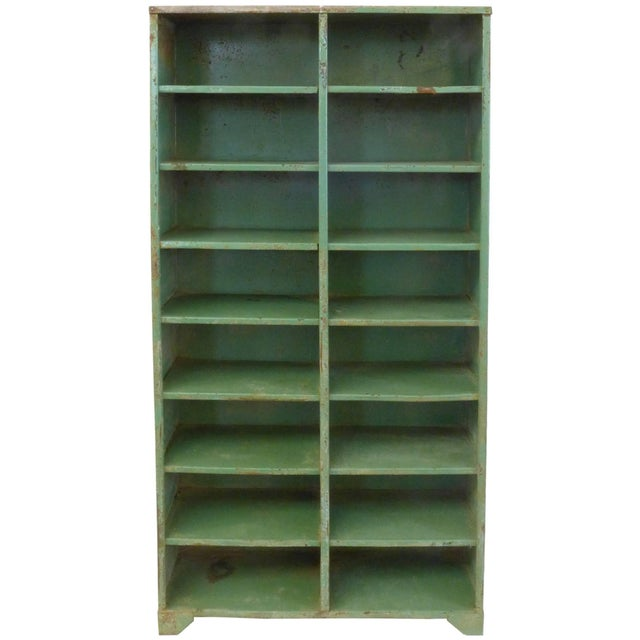 An outstanding 1930s French Industrial shelving unit. Great scale and modernist simplicity in design, this welded-steel...