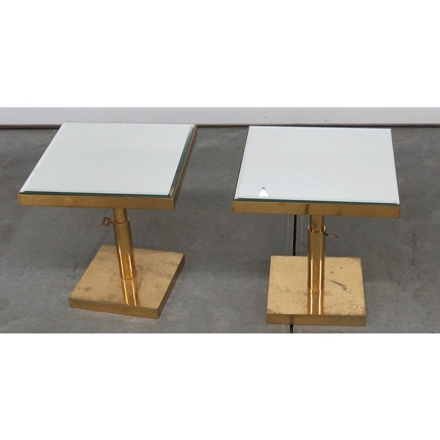 Gold 20th Century Mid-Century Modern End Tables - a Pair For Sale - Image 8 of 8