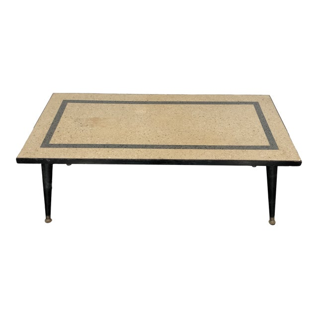 1950s Mid Century Modern Terrazzo Coffee Table For Sale