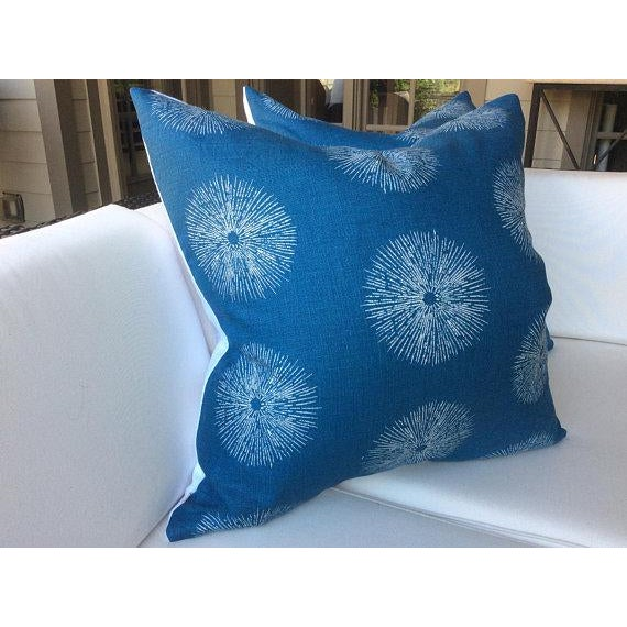 "Boho Chic Groundworks ""Sea Urchin"" Pillows - a Pair For Sale - Image 3 of 5"
