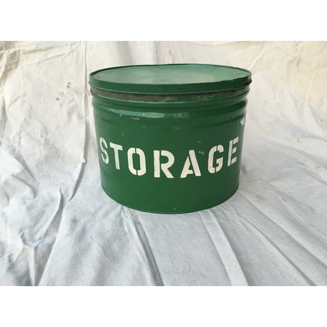 Antique Green Storage Box - Image 3 of 3