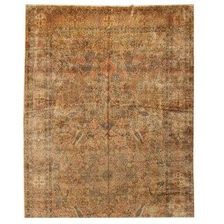 Antique Oversize Lavar Kerman Carpet