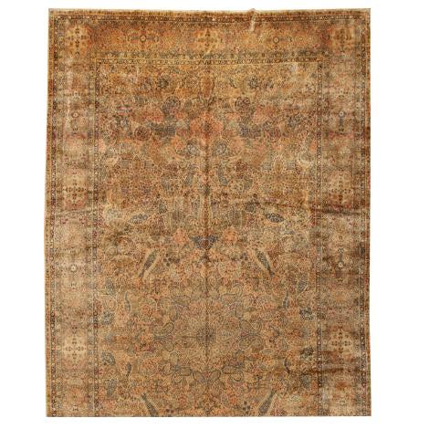 Antique Oversize Lavar Kerman Carpet For Sale