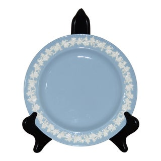 Wedgwood Etruria/Barlaston Embossed Queensware White on Blue Salad Plate For Sale