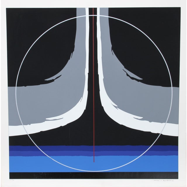 Abstract Untitled IIi, 1981, Silkscreen by Thomas W. Benton For Sale - Image 3 of 3