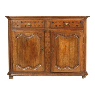 18th Century French Country-Style Buffet With Inlay Drawers For Sale