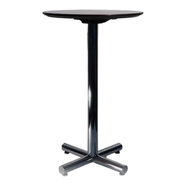 Chrome & Black Side Table - Image 1 of 5