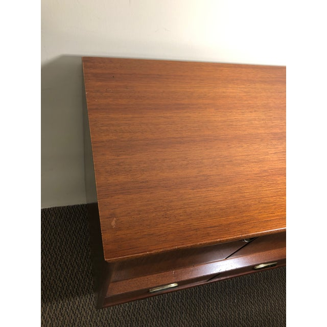 Midcentury Mahogany Credenza Sideboard With Metal Pulls by G Plan For Sale - Image 12 of 13