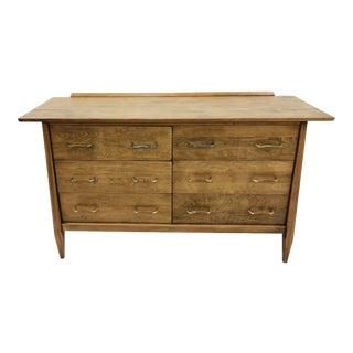 Vintage Mid Century Metal & Woven Detail Dresser For Sale