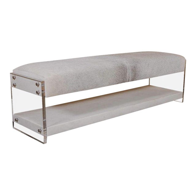 Modern Yves Lucite Benches For Sale