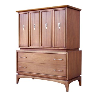 "Mid-Century Modern Kent Coffey ""The Wharton"" Highboy Dresser For Sale"