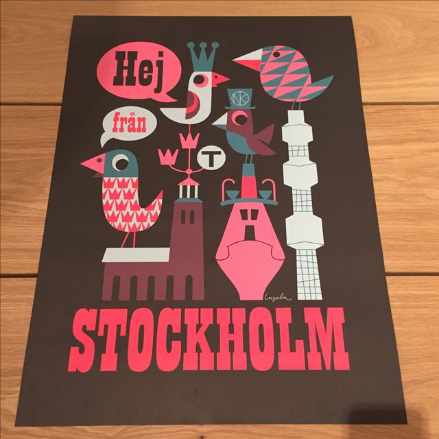 Graphic Pop Stockholm Print - Image 2 of 4